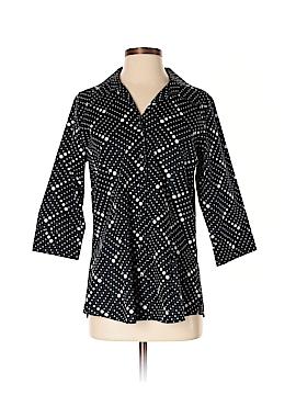 Foxcroft 3/4 Sleeve Button-Down Shirt Size 8 (Petite)