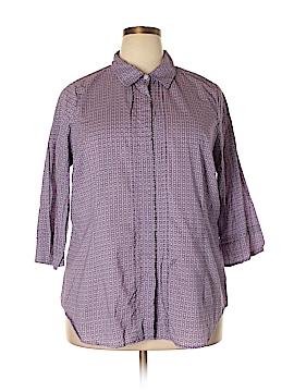 Avenue 3/4 Sleeve Button-Down Shirt Size 22 - 24 Plus (Plus)