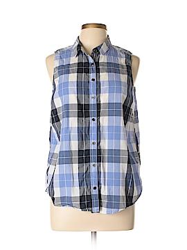 G.H. Bass & Co. Sleeveless Button-Down Shirt Size L