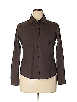 Preston & York Long Sleeve Button-Down Shirt Size 14