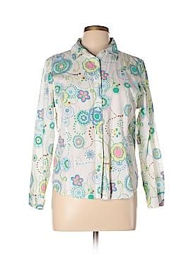 Natalie & Me Long Sleeve Button-Down Shirt Size L