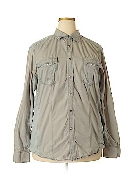 Inc Denim Long Sleeve Button-Down Shirt Size XL