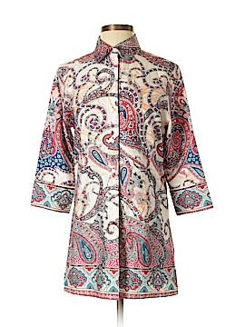 PaperWhite 3/4 Sleeve Button-Down Shirt Size 8