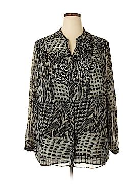 JM Collection Long Sleeve Blouse Size 22w (Plus)