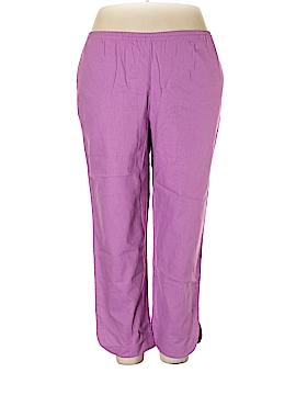 Susan Graver Linen Pants Size 1X (Plus)