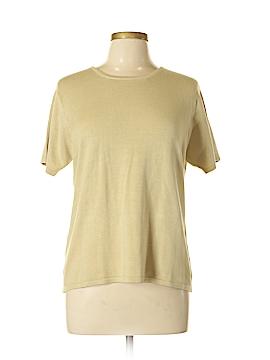 Field Manor Short Sleeve Silk Top Size L
