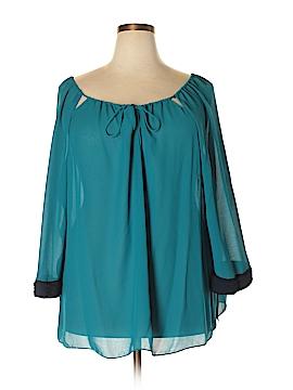 Tahari 3/4 Sleeve Blouse Size 3X (Plus)