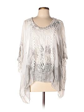 Tempo Paris 3/4 Sleeve Silk Top Size Sm - XL