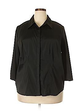Architect 3/4 Sleeve Button-Down Shirt Size 2X (Plus)