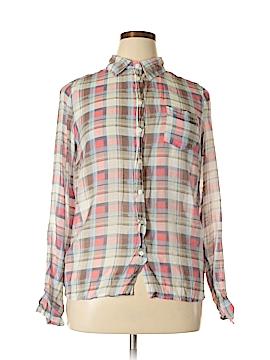 Dalia Collection Long Sleeve Button-Down Shirt Size XL