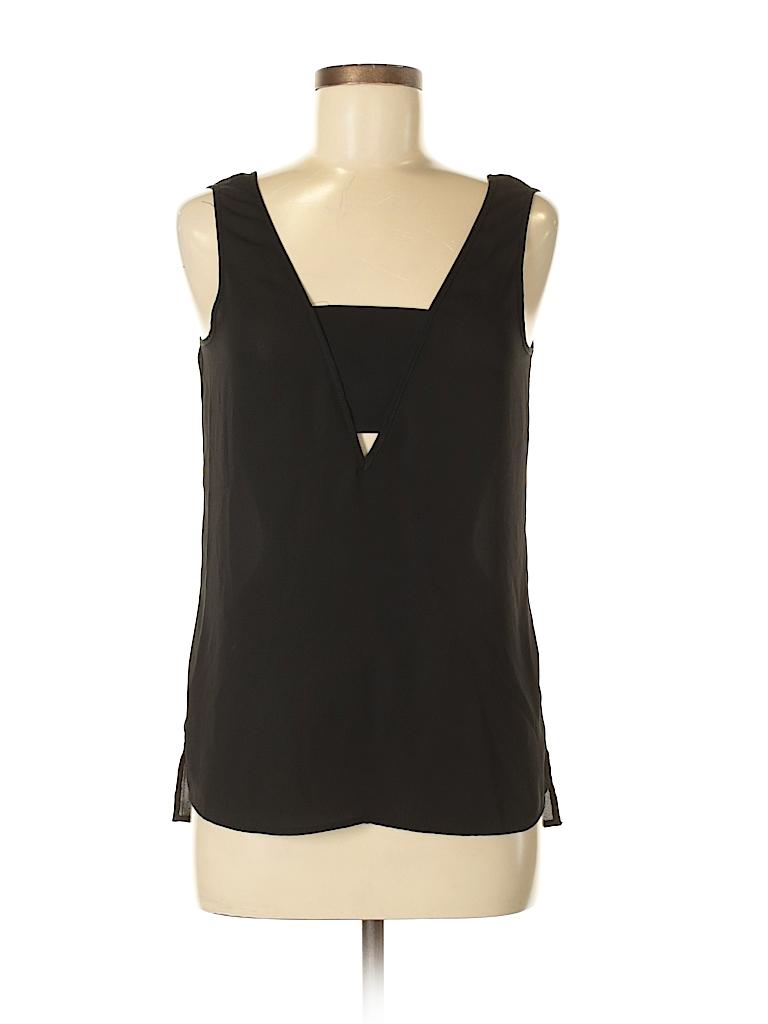2f2473e51ec5e Express 100% Polyester Solid Black Sleeveless Blouse Size S (Petite ...