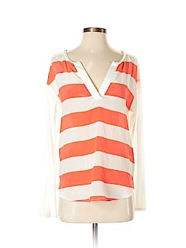 Ella Moss Long Sleeve Silk Top Size S