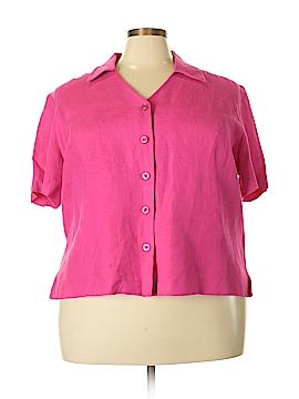 Positive Attitude Short Sleeve Blouse Size 22 (Plus)