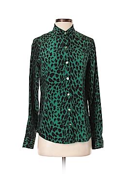 C. Wonder Long Sleeve Silk Top Size XS