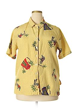 Chico's Design Short Sleeve Silk Top Size Lg (2)