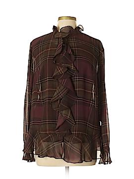 Chaps Long Sleeve Blouse Size XL (Plus)