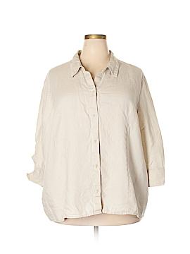 Liz Claiborne 3/4 Sleeve Button-Down Shirt Size 24 (Plus)