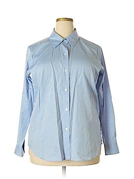 Liz Claiborne Long Sleeve Button-Down Shirt Size 14 (Plus)