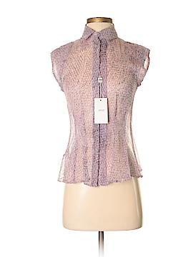 Armani Collezioni Short Sleeve Silk Top Size 2