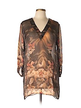 Roberto Cavalli 3/4 Sleeve Silk Top Size 42 (IT)
