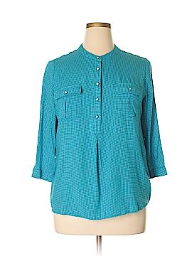 Stylus 3/4 Sleeve Button-Down Shirt Size XL
