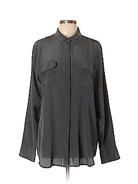 Banana Republic Heritage Collection Long Sleeve Silk Top Size XL