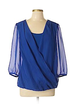 AB Studio 3/4 Sleeve Blouse Size L