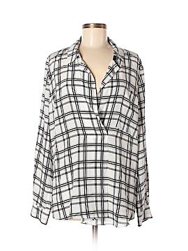Marissa Webb Long Sleeve Silk Top Size L
