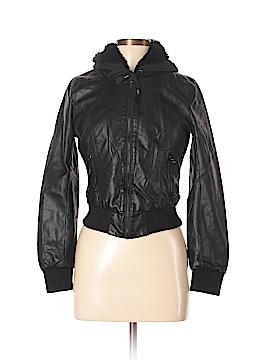 LA Hearts Faux Leather Jacket Size S