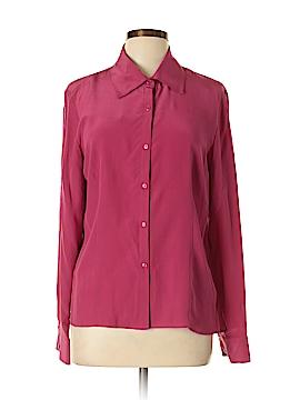 Jones Wear Long Sleeve Silk Top Size 12