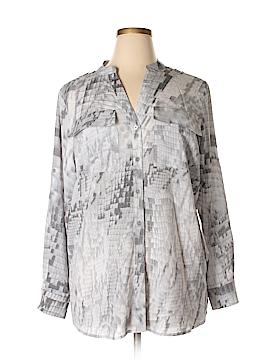 Calvin Klein Long Sleeve Blouse Size 0X (Plus)
