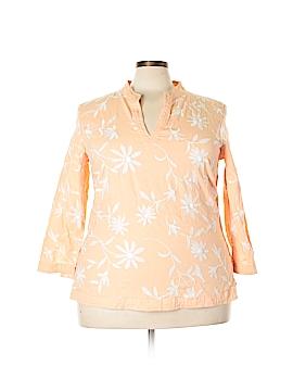 Tweeds 3/4 Sleeve Blouse Size 2X (Plus)