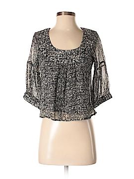 Corey Lynn Calter 3/4 Sleeve Silk Top Size 2