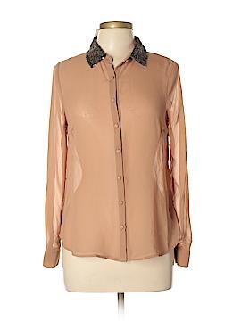Edge Long Sleeve Blouse Size M