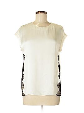 Sandro Short Sleeve Silk Top Size Med (2)