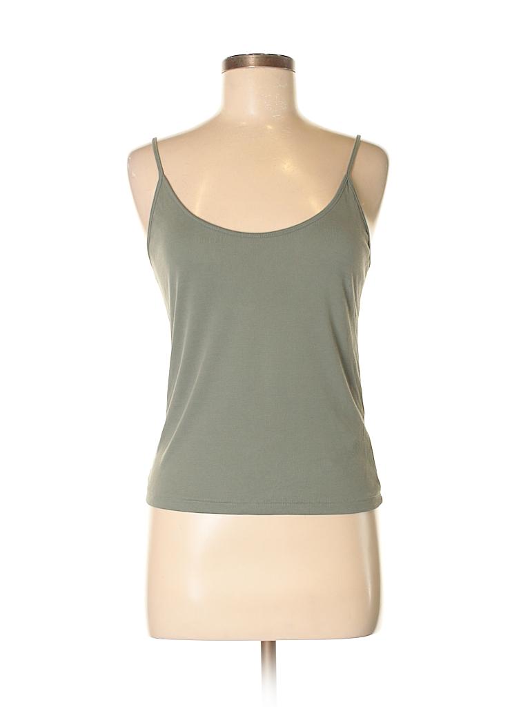 553d102304e3b Zara Solid Green Tank Top Size M - 58% off