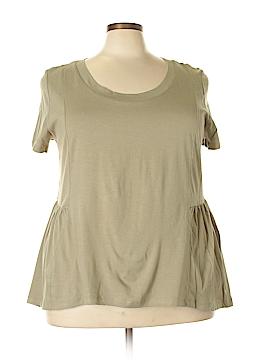 American Rag Cie Short Sleeve Top Size 0X (Plus)