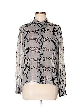 Finity Long Sleeve Silk Top Size 8