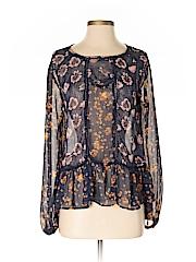 Xhilaration Women Long Sleeve Button-Down Shirt Size XS