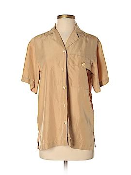 Liz Claiborne Short Sleeve Silk Top Size S