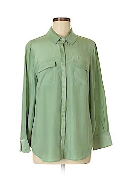 Worth New York Long Sleeve Silk Top Size M