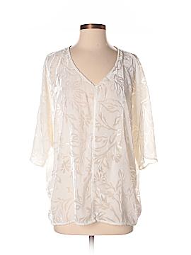 Gloria Vanderbilt 3/4 Sleeve Blouse Size M