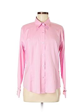 Petite Sophisticate Long Sleeve Button-Down Shirt Size L