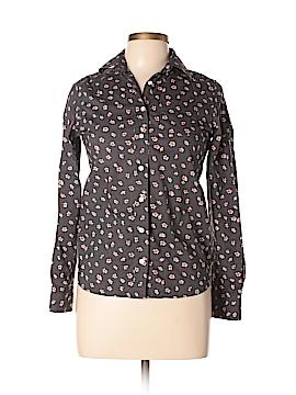 Lands' End Canvas Long Sleeve Button-Down Shirt Size XXS