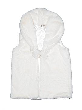 Lands' End Faux Fur Vest Size 7 - 8
