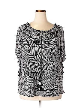 Claudia Richard Short Sleeve Top Size 2X (Plus)