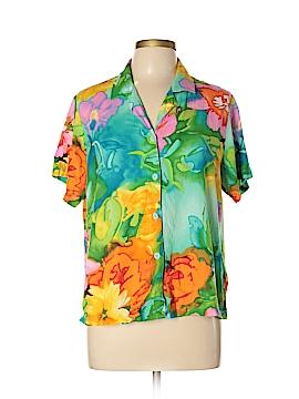 Jams World Short Sleeve Button-Down Shirt Size L