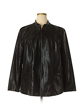 TanJay Faux Leather Jacket Size 22 (Plus)