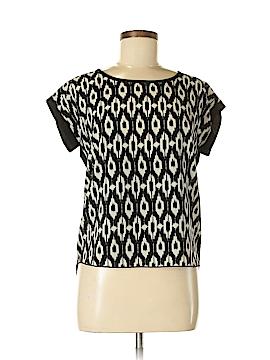 Amber Blue Short Sleeve Blouse Size S