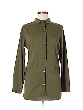 Signature Studio 3/4 Sleeve Button-Down Shirt Size L